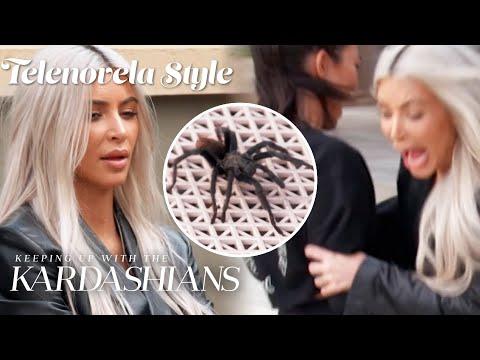 Kim Kardashian Faces Her Biggest Fear...Tarantulas! | KUWTK Telenovelas | E!