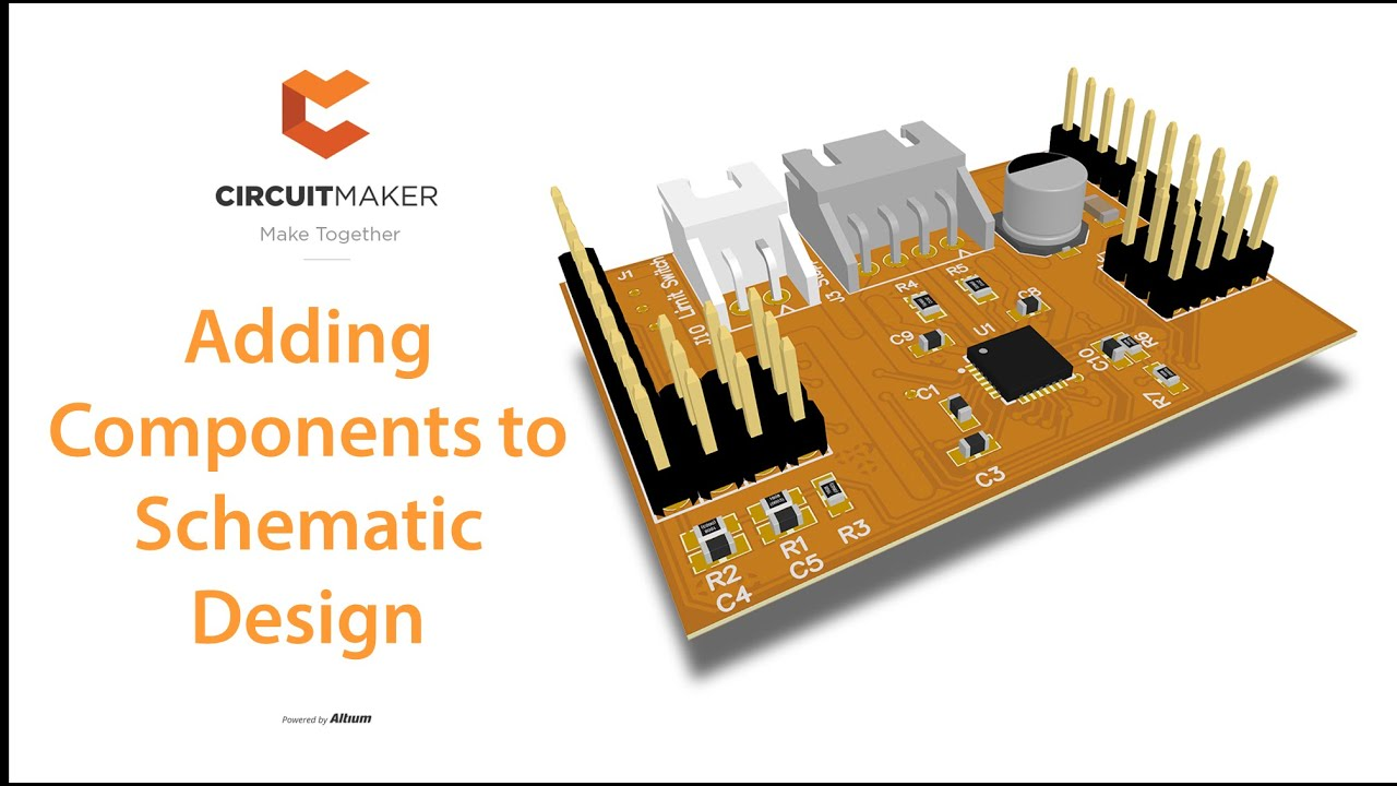 Adding Components To Schematic Design Arduino Nanite Circuitmaker Of A Circuit Tutorial