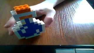как сделать лего пузырёк с водой из Minecraft (RUS) / How to make lego vial of water Minecraft