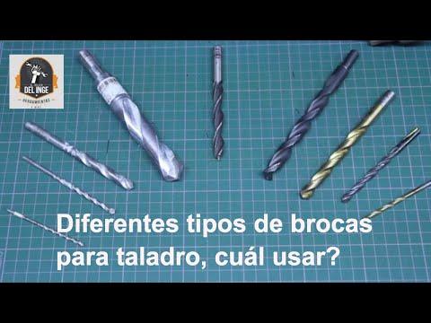 Diferentes tipos de brocas para taladro - cual usar