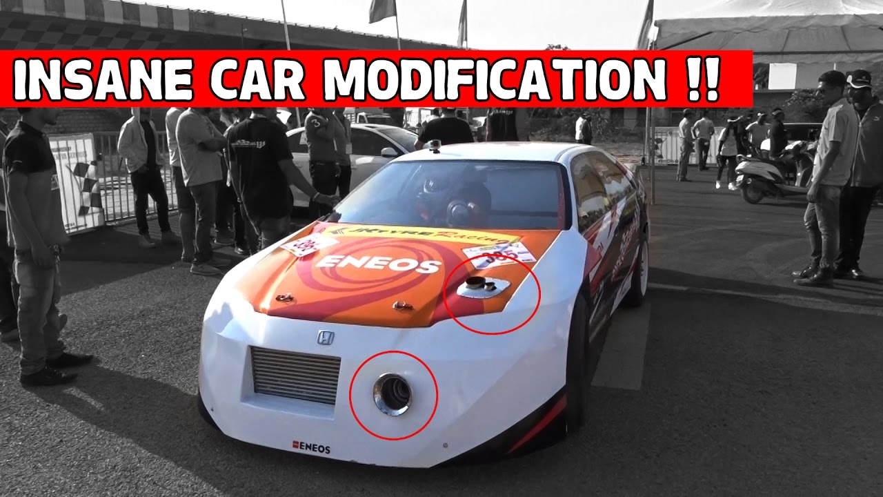 Crazy Modified Car For Drag Race In India Youtube