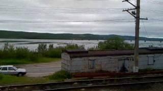 Мурманск из окна поезда(Вид из окна поезда №212 Москва - Мурманск. Перегон Кола - Мурманск. Кольский мост., 2010-07-13T17:38:04.000Z)