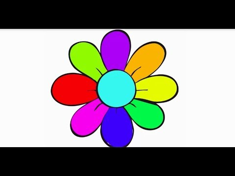 How to Flower Coloring Pages | Coloring Book and Page for Kids