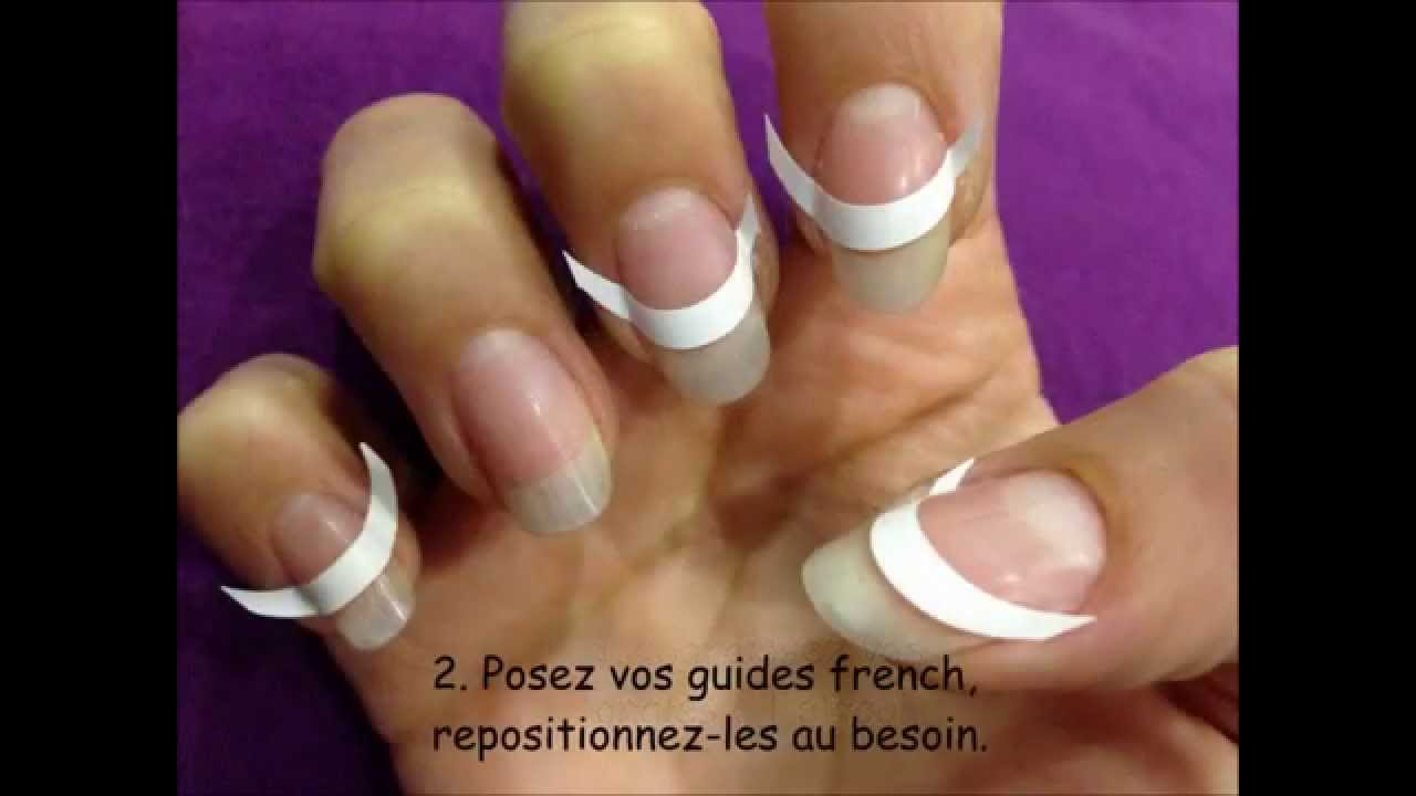 Tuto french manucure guides french autocollants ongles youtube - Tuto french manucure ...