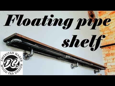 DC. PLUMBING PIPE SHELF. EASY PROJECT!