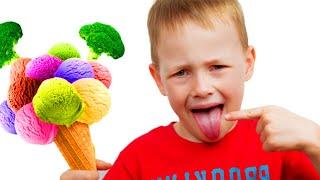 Do you like Broccoli Canción Infantil   Canciones Infantiles con Alex y Nastya