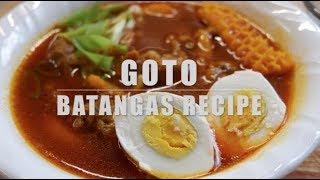 BEEF TRIPE SOUP RECIPE | GOTO NG BATANGAS