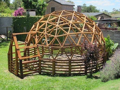 Domo geodesico invernadero 5 m solymar uruguay youtube for Sofas para jardin baratos