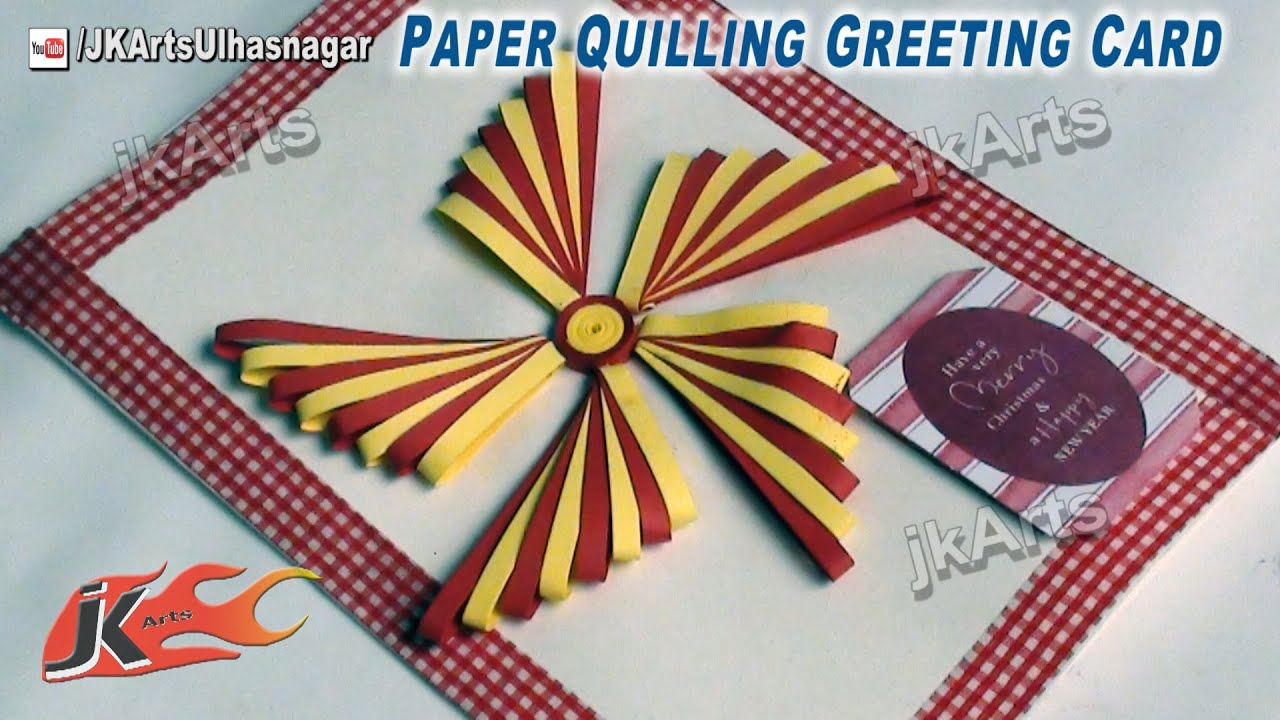 How to make christmas cards diy paper quilling greeting card jk how to make christmas cards diy paper quilling greeting card jk arts 470 youtube kristyandbryce Choice Image