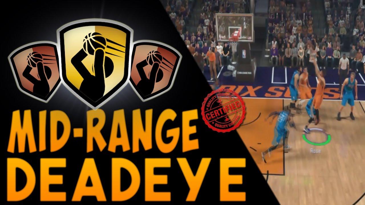 Nba 2k17 Badges  How To Get The Mid Range Deadeye Badge!