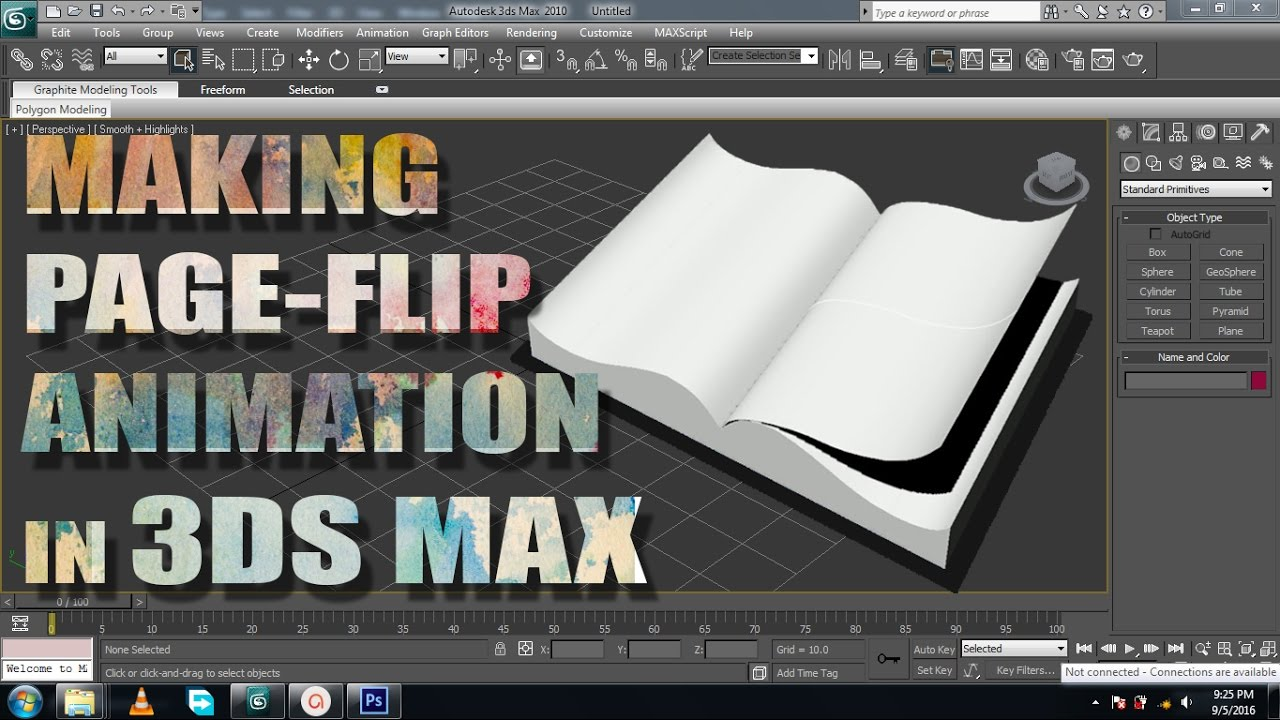 3ds Max tutorial: Making Page flipping Animation