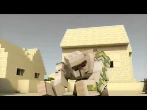 Animaciones de minecraft steve vs golem youtube - Minecraft golem de diamant ...