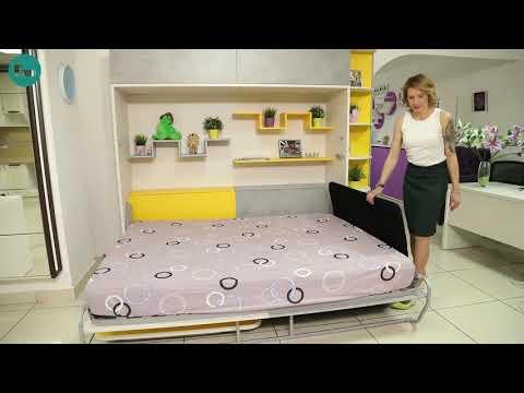 """Шкаф кровать с диваном и столом """"Бильбао"""" от интеллект мебель.рф Www.интеллект-мебель.рф"""