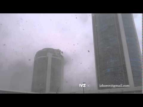 Snow blizzard in Astana