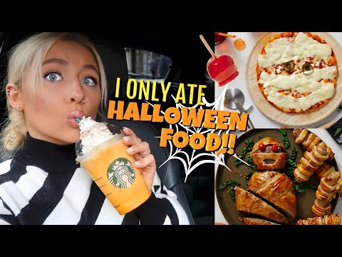 I only ate HALLOWEEN FOOD for 24hours!!