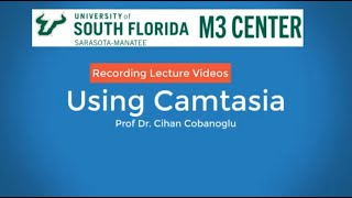 How to make a professional lecture video using Camtasia