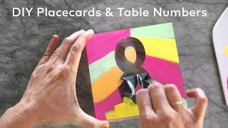 DIY Place Cards & Table Numbers