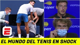 TERRIBLE: Novak Djokovic, DESCALIFICADO del US Open. Carreño Busta, Zverev, y más opiniones de Nole.