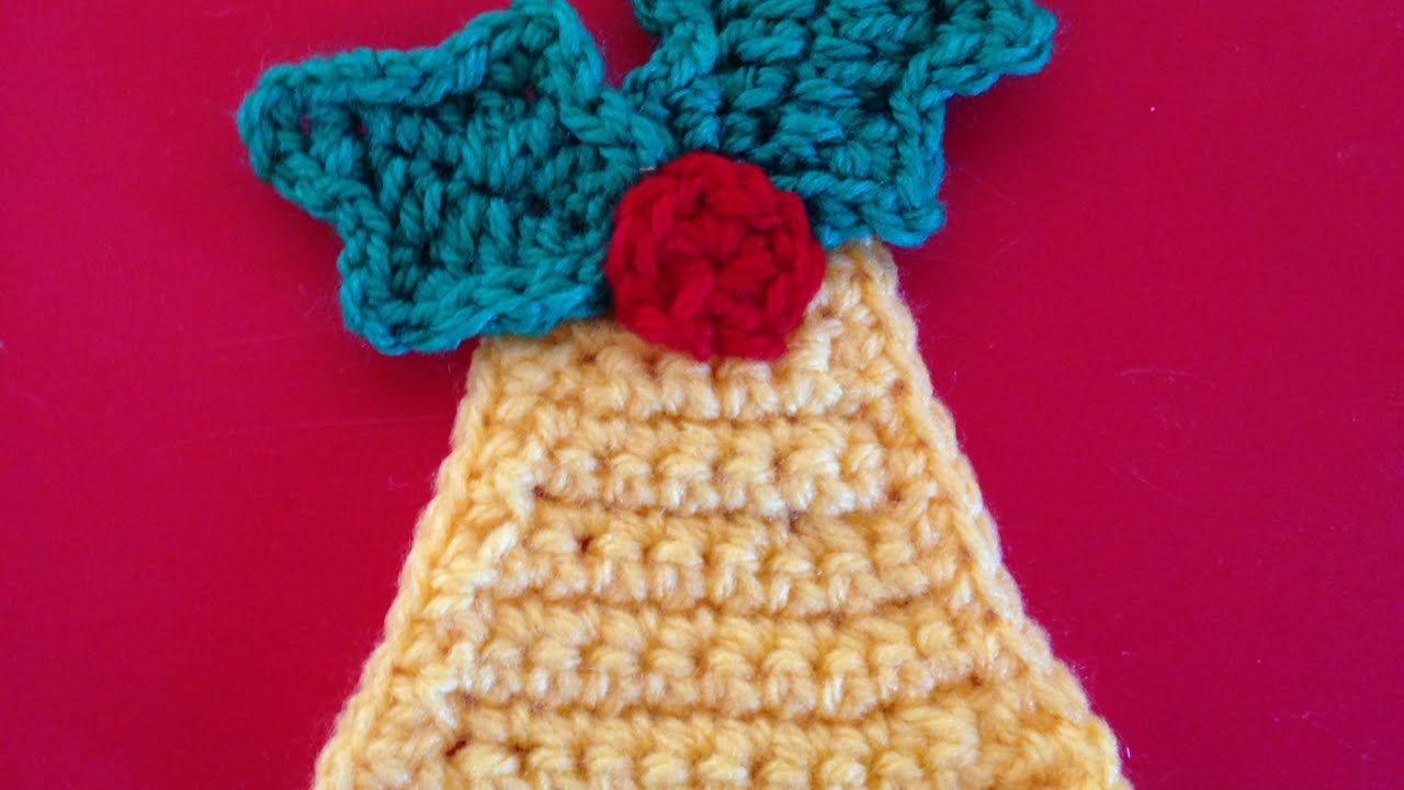 How To Crochet A Bell Applique For Christmas - DIY Crafts Tutorial ...