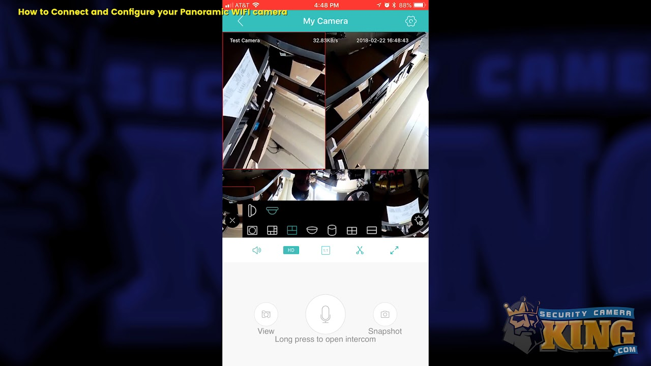 TUTORIAL - How to Connect and Configure your Panoramic Wifi Camera