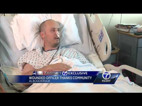 Detective shot in drug bust thankful for support