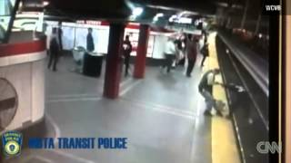 Boston transit police officer snatches suicidal man