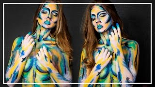 Easy Paint Stroke Body Paint Tutorial