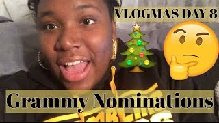 Vlogmas Day 8 | Grammy Nominations Reactions