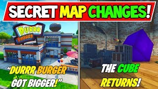 "*NEW* FORTNITE SECRET MAP CHANGES ""CUBE RETURNS FINALLY!"" + Season 8 Storyline"