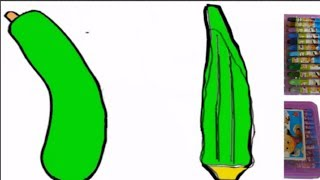 How to Draw and Paint Green Vegetables||Pumpkin|| Okra||Interesting for Kids|