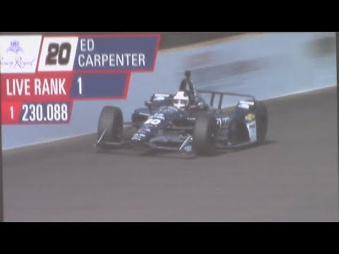 2018 Indy 500 -- Ed Carpenter Pole Run -- PURE SOUND -- CROWD GOES NUTS!!!!!!!!!