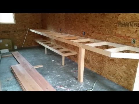 DIY Building a shop workbench and Dream Build update for Mrs Kappers work shop!