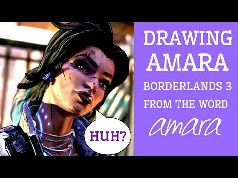 HOW TO DRAW AMARA FROM THE WORD AMARA | BORDERLANDS 3