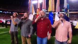 """No Hat"" Zac and The Boys - Zac Brown Band Singing The National Anthem at BCS Championship Game 2013"