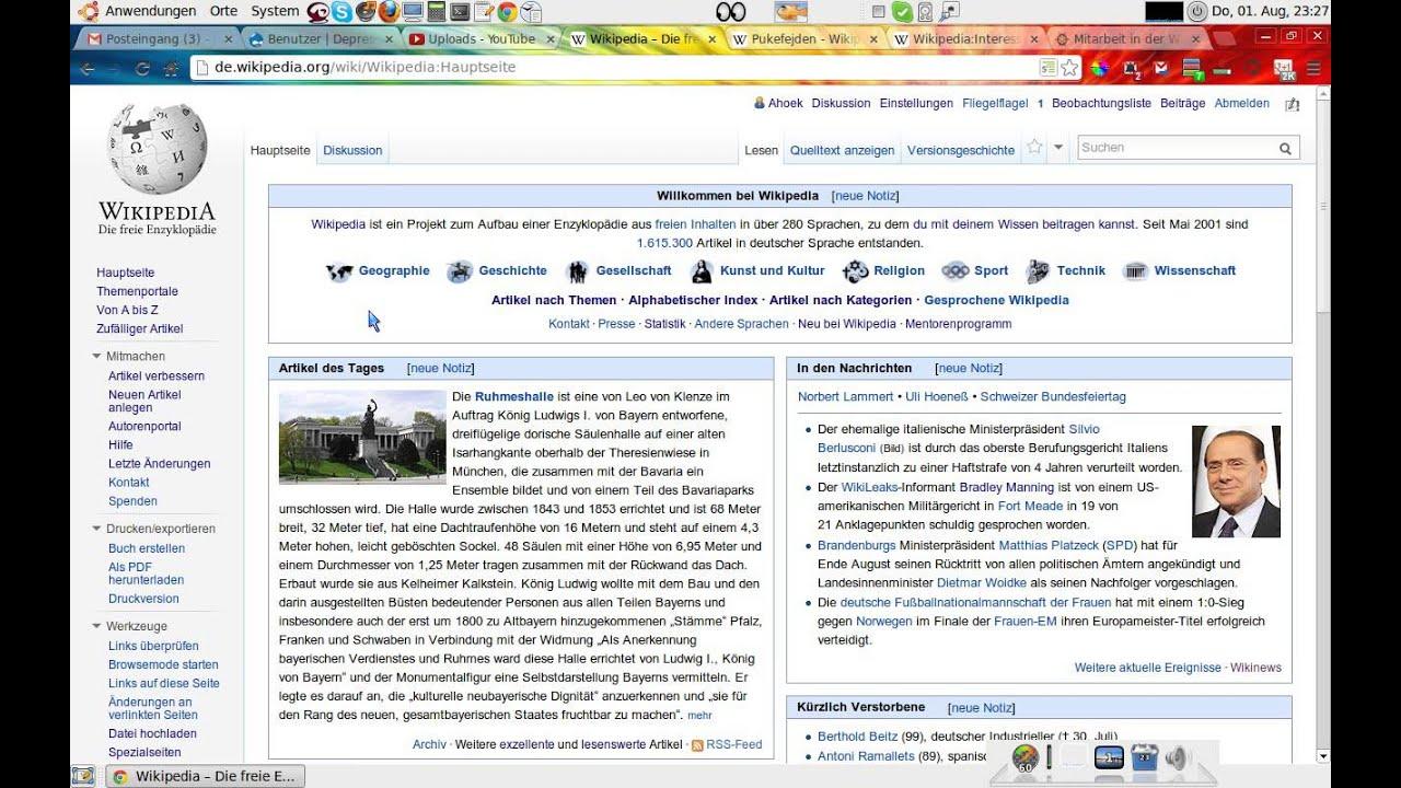 Wikipedia Artikel Uber Die Eigene Person Youtube