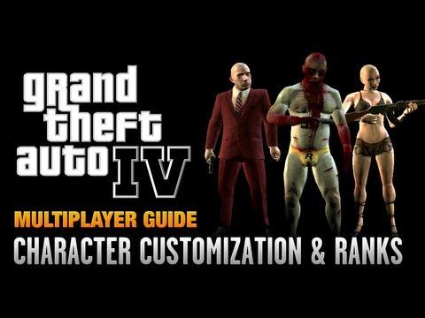 GTA 4 - Multiplayer Character Customization & Ranking Up (1080p)