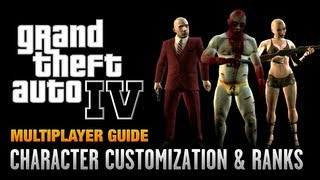GTA 4 - Multiplayer Character Customization & Ranking Up (1080p)
