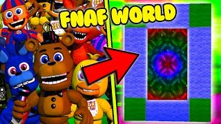 HOW TO MAKE A PORTAL TO THE FNAF WORLD DIMENSION - MINECRAFT FIVE NIGHTS AT FREDDY'S WORLD