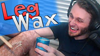 Leg Wax Challenge | Yeah I Lost a Bet..