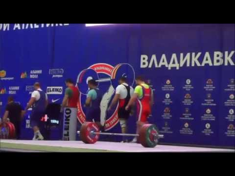 2016 Russian National Weightlifting  105 kg Snatch