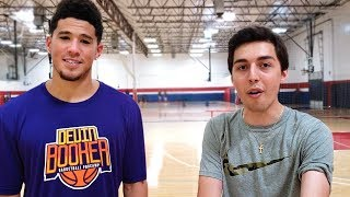 DEVIN BOOKER BROKE MY ANKLES! 1 on 1 vs. DEVIN BOOKER
