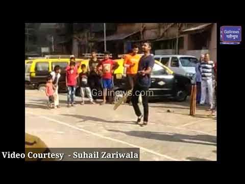 Sri Lankan Batsman Kumar Sangakkara Playing Gully Cricket at JJ BIT Chawl #Mumbai