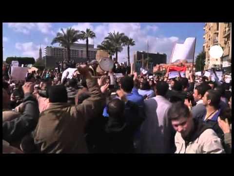 Egyptian anti-Mubarak protests enter seventh day