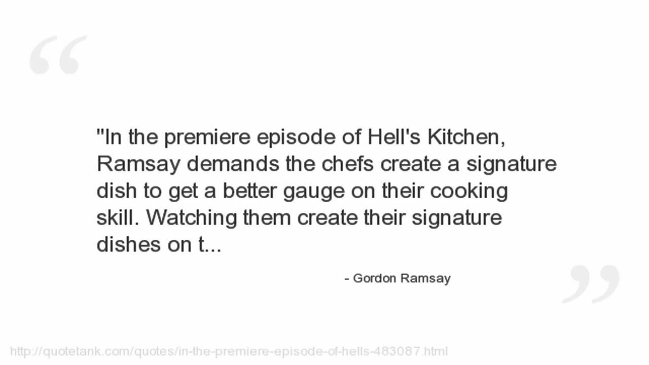 Gordon Ramsay Quotes - YouTube