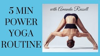 Five Min Power Yoga Routine- Home Yoga!