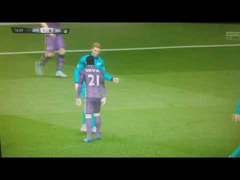 1 тайм матча Зенит-Манчестер Сити.Фифа 15