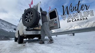 WINTER Van Life In The Canadian ROCKIES | Feeling At Home In The Mountains