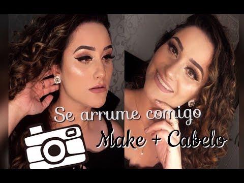 Se arrume comigo MAKE + FINALIZAÇÃO DO CABELO - Leticia Maria