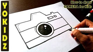 How to draw CAMERA for Kids