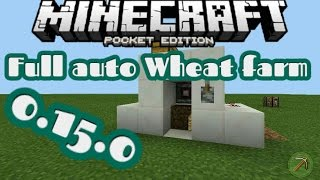 Minecraft PE : Full auto Wheat Farm (3x4x4)(0.15.0)